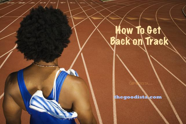 Losing your fitness drive can get your back on track with these five steps. Illustrated by man on track field.